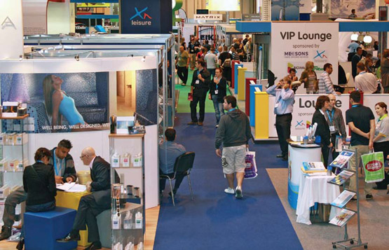 The ripple effect pool and spa scene for Pool show birmingham