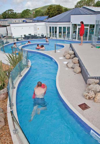 Aquascapes Added This Impressive 60 Metre Lazy River With Rapids Section,  Umbrella Fountain And Relaxation