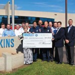Watkins' Manufacturing celebrated the landmark event of producing its one millionth hot tub by raising more than $34,400 to support the families of fallen firefighters across the United States.
