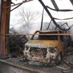 Grayfox pool and spa fire damage