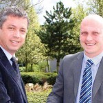 Carl Porter ,left, and Michael Witney are looking forward to a new era for the UK pools division of Pollet Pool Group.