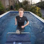 alistair brownless trains in his swimming pool