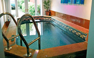 Tight squeeze for pool garage conversion pool and spa scene for Swim spa in garage
