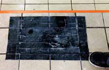 Visitors to Rivermead pool have reported strange holes in the floor of the changing rooms covered up with black duct tape