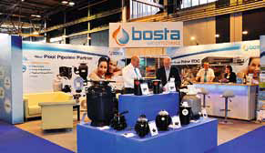 Bosta felt the UK Pool & Spa Expo attracted a different range of customers.