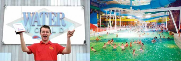 Water Leisure Venue of the Year: Waterworld in Stoke is a modern well located, purpose built, all season and all weathers Tropical Aqua Park, attracting over 400,000 visitors per year.
