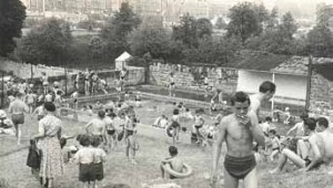 A busy day at Cleveland Pools circa 1960's. Pic: Wessex Water Historical Archive.