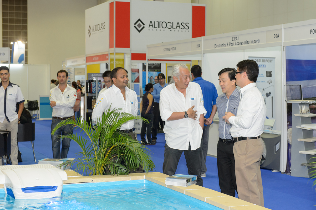 Piscine splash asia hots up pool and spa scene for Pool trade show 2015