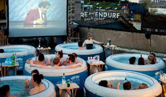 There are plans to roll out the Hot Tub Cinema concept throughout America this year.