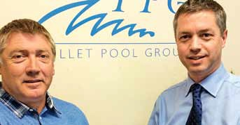 Carl Quirk of CCM Pools, pictured left with Carl Porter of PPG, right, was the first recipient of Pollet Pool Group's reward scheme and a repeat recipient in 2014.