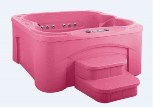 HotSpring World is raffling off an exclusive pink hot tub to raise funds for Breast Cancer Research.