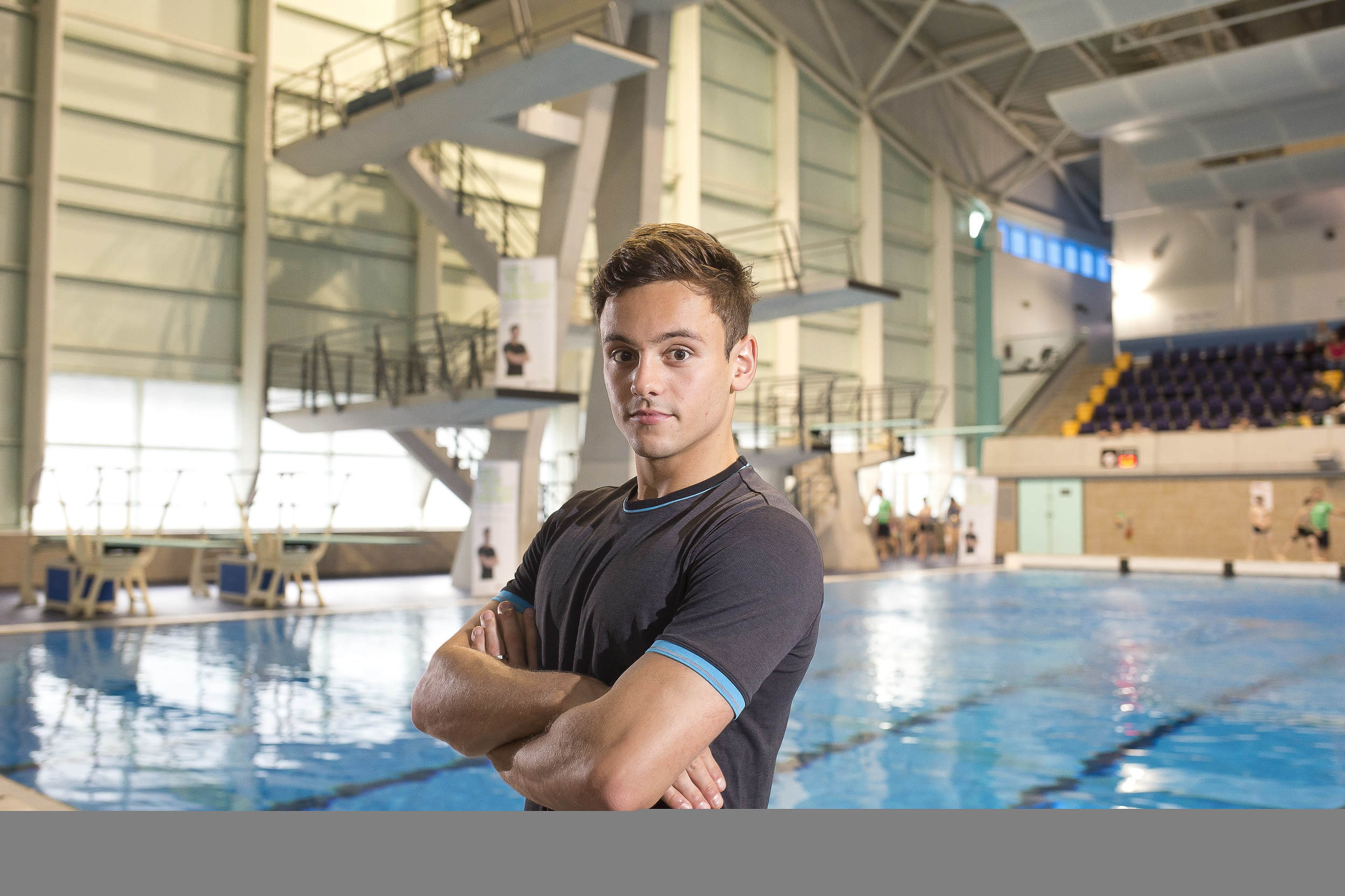 Olympic diver Tom Daley opens the Tom Daley Diving academy at the Manchester Aquatic Centre. Photo credit: ANDREW BAKER   GLL/Better Hand out to Press otherwise ©  Andrew Baker.