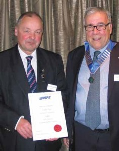 A landmark year for Colin Day as he is made a Fellow of the Institute of Swimming Pool Engineers.