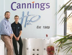 Bradley Cannings is pictured with his son Ed Cannings, the third generation of the family, who is currently working through college while working within the H2O division.