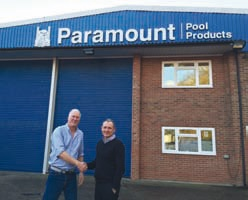 Emilio 'Pedro' Di Pietro (left) has been appointed as sales executive at Paramount Pools, pictured here with Steve Martin.