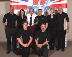 The 1 Stop Spas team pictured at the UK Pool & Spa Awards in November, after being named Pool & Spa Retailer of the Year.