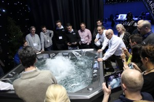 Dealers from the UK and across Europe, took the opportunity to see, feel and touching the new Vector21 spa for the first time.