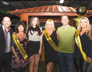 The London Essex Hot Tubs team pose with members of the Dream Factory charity during a fundraising event at the showroom.