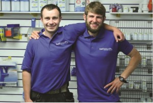 Peter Goldsmith and Connor Leeding started out as apprentices, gaining hands-on practical experience at Bell Leisure.
