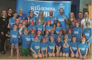 School children were joined by Olympic swimming heroes at Bristol South Pool to celebrate the Big School Swim.