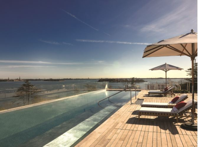 Located in a prestigious area on the island of Sacca Sessola, in the Venice Lagoon, the jury appreciated the cutting-edge technologies used to create this stunning outdoor pool. Built by 3L Costruzioni ed Impianti, the bespoke swimming pool is technically complex, with clean lines and exquisite finishes. The project was named winner of the 'Commercial Outdoor Pool Larger than 20m' award. Category: Commercial Outdoor Pool Larger than 20m. Winner: 3L Costruzioni ed Impianti.