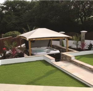 Staying within the £14,500 budget guideline, a Jacuzzi J456 was chosen, as it fitted well with the look of the new garden.