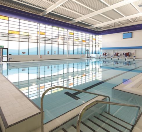 The new Oldham Leisure Centre includes a 25-metre, eight-lane swimming pool of county-level standard and a separate learner pool.