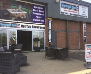 The Season Spas showroom in Mansfield has eleven models on display, including Cal Spas, Tuff Spa and Lay-Z-Spa.