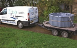 1066 Pools handle deliveries themsleves using the company's own van and trailer. ABOVE: Sutton Spas see a split between those who are booking for a social gathering such as a birthday or hen do and those who want to 'try before they buy'.