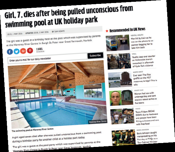 Tragic cases of drowning usually attract headline news.