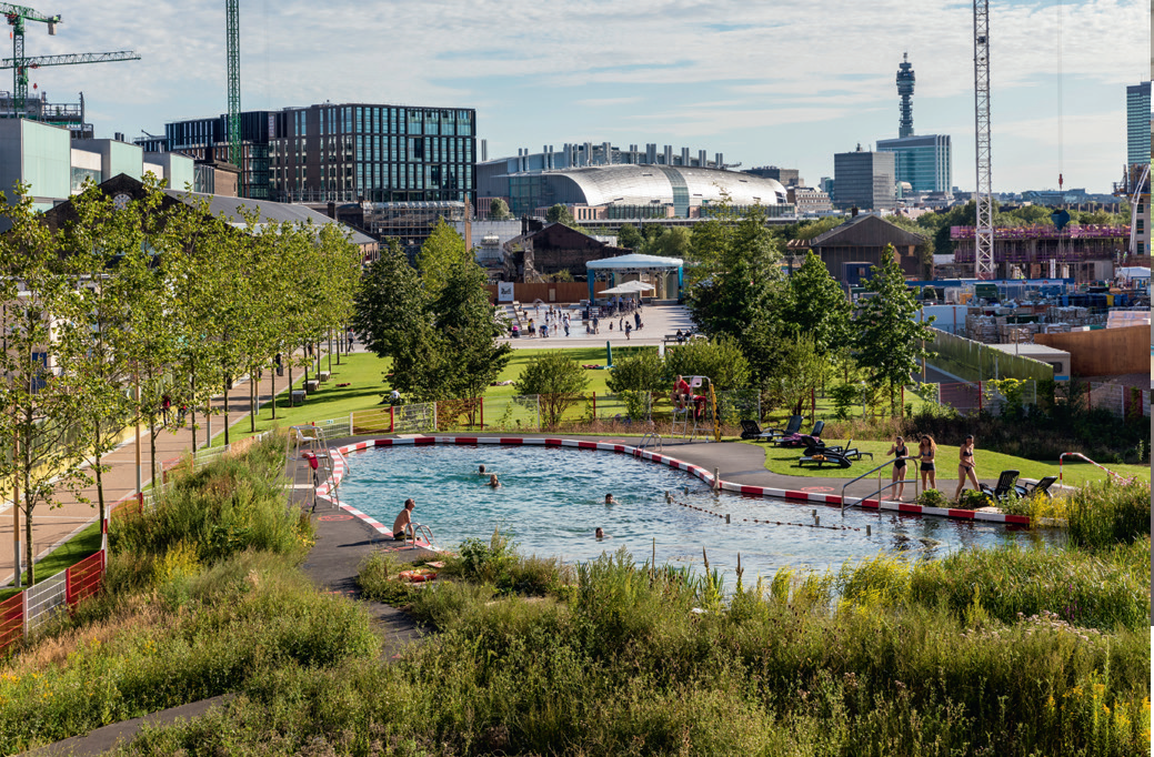 The public swimming pond in London King's Cross attracted more than 20,000 visitors in its first year.