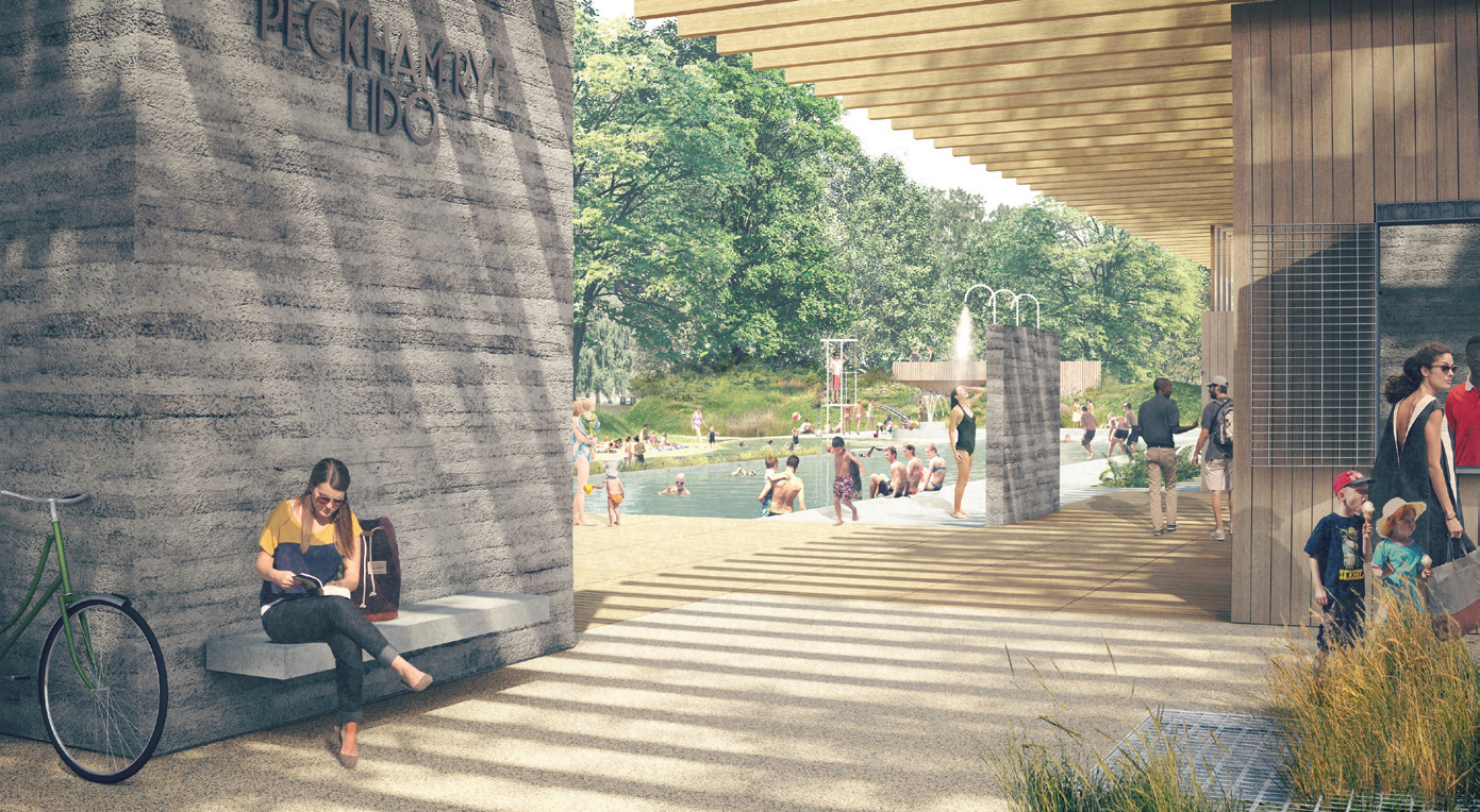 Plans to restore Peckham Lido include a 50m pool and an open-air cinema.