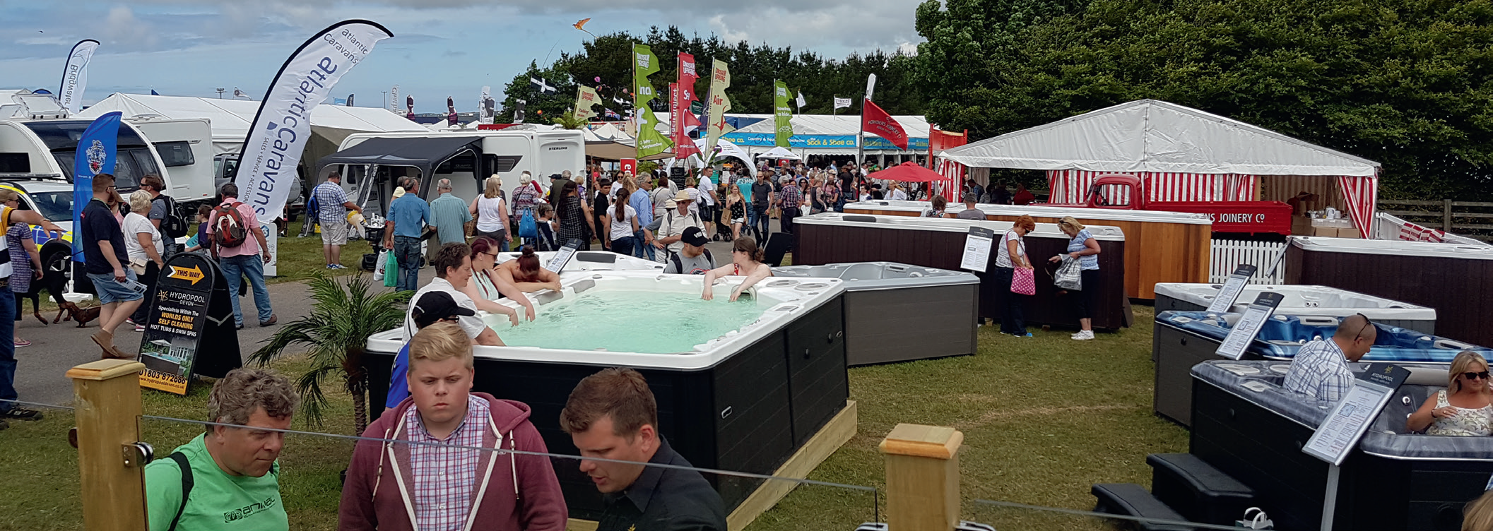 Many companies reported record-breaking sales figures and exceeded targets at this summer's outdoor shows, including Hydropool pictured above at The Royal Cornwall Show.