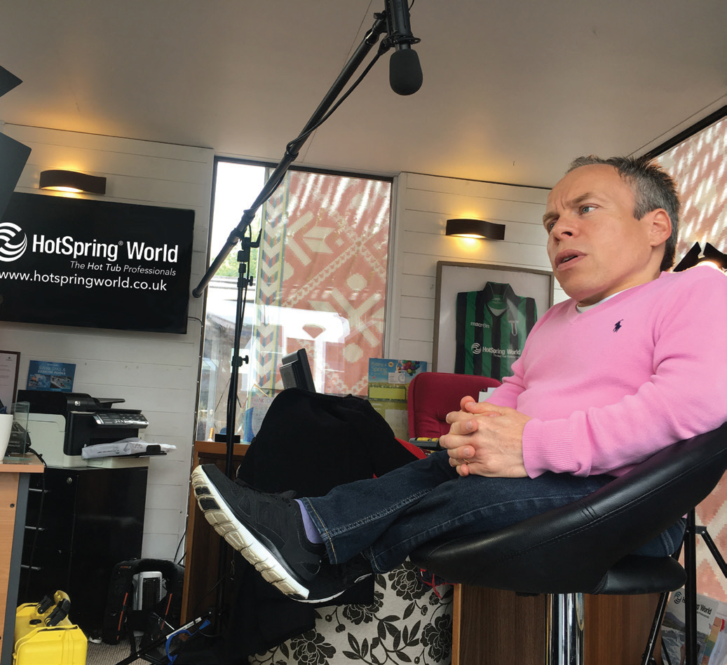 Warwick Davis is the star of a new promotional video for HotSpring World.