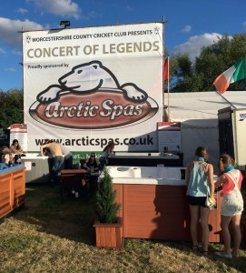 Arctic Spas provided an Arctic Klondiker hot tub for the performing artists in the VIP tent at the Upton Sunshine Music Festival.