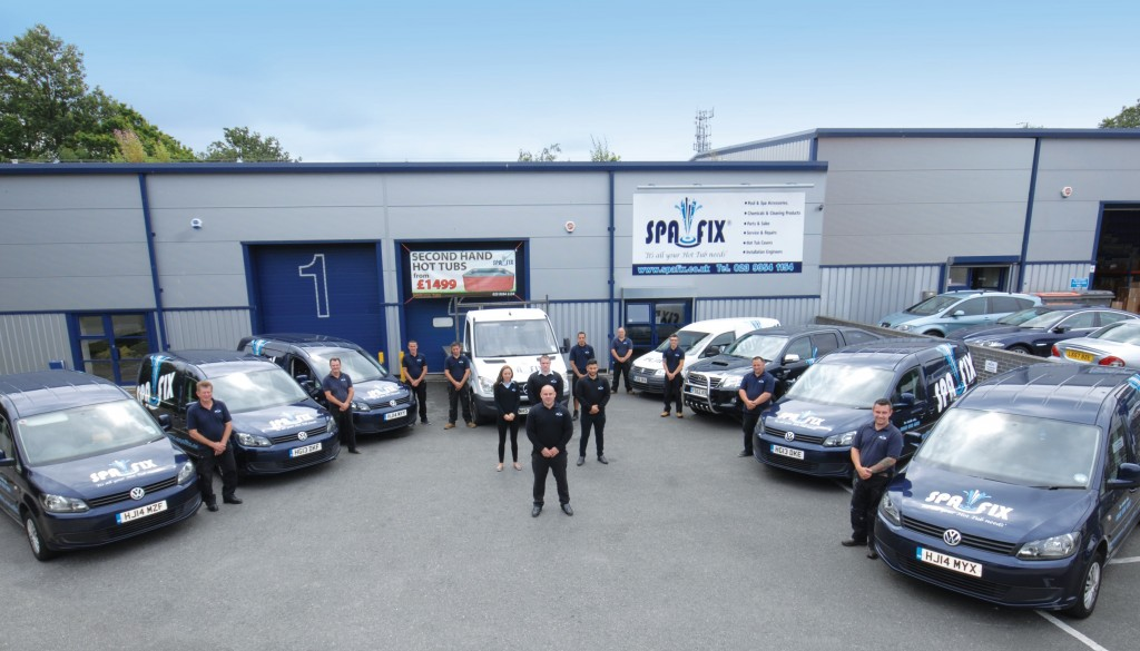 Pictured outside their Havant HQ, the Spafix engineering team operates nationwide throughout the UK.