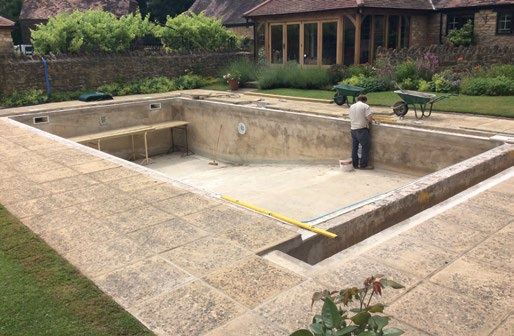 One of the most common challenges to be overcome with renovation projects is getting to know the structure of the pool that was built by another company. Pic: Cresta Leisure.