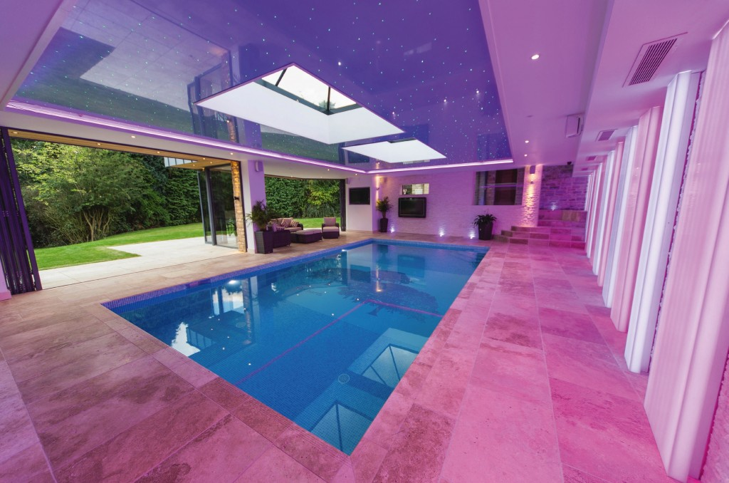 A luxury pool is one that exceeds the standard functional requirements of a normal pool in a bid to create a bespoke and personal addition to a building. Pic: Grayfox Swimming Pools.