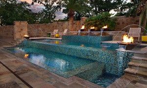 ANOTHER LEVEL Category: Residential Concrete Pools - Geometric - 600 sq. ft. or less Company: Austin Water Designs Standard: Gold