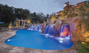HIDDEN CAVES Category: Residential Concrete Pools - Freeform - 601 sq. ft. or more Company: Caviness Landscape Design Standard: Gold