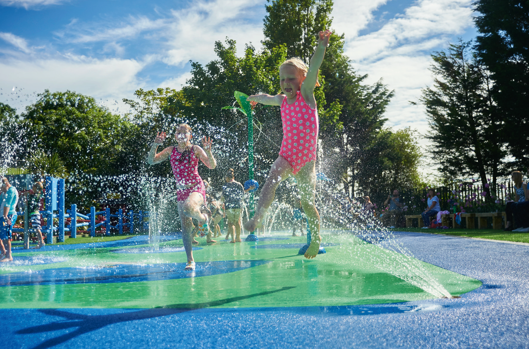 Zero-depth splash pads can offer holiday parks the 'wow' factor and can provide the ideal tool for attracting and retaining guests. Pic: Ustigate Waterplay.