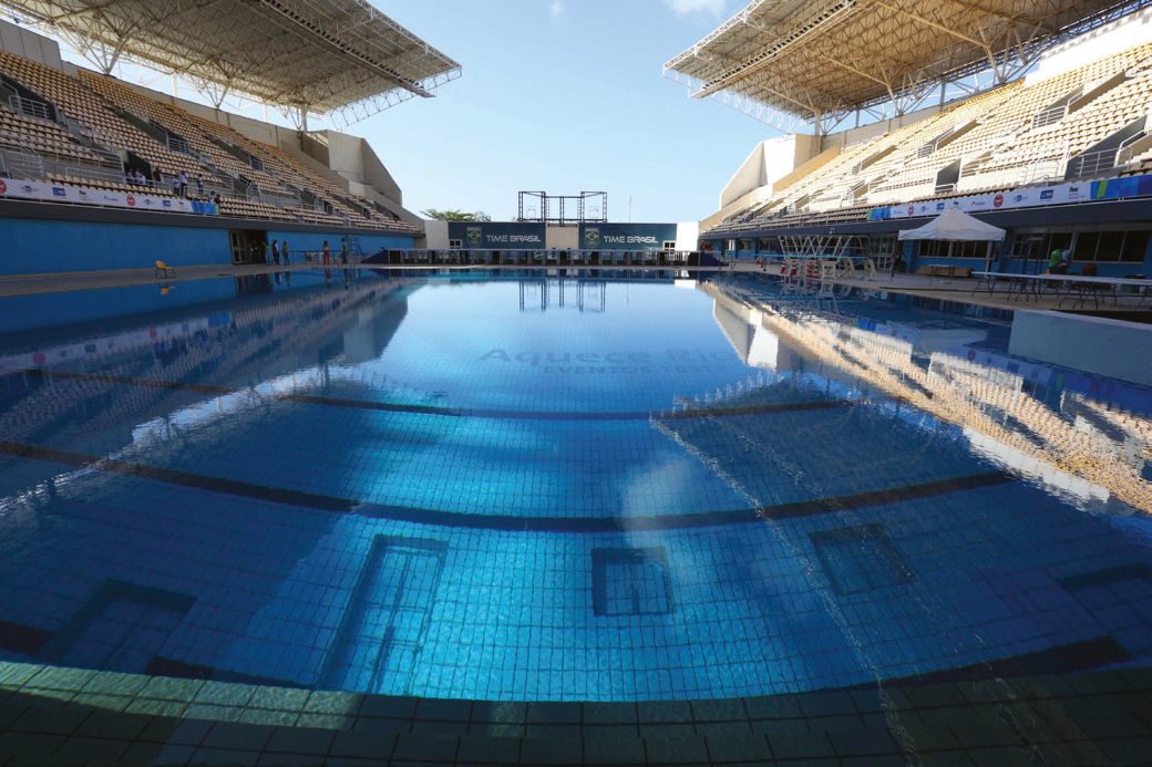 The majority of the 2016 Rio Olympics swimming action took place in the Maria Lenk Aquatics Centre. Pic: Rio de Janeiro City Hall / Beth Santos.