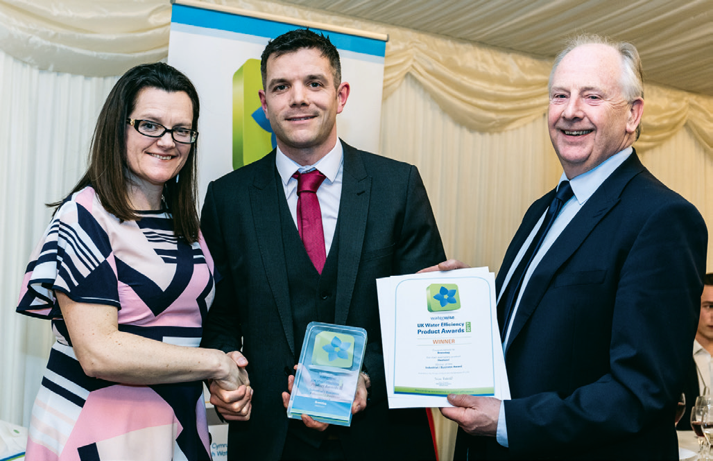 Chris Whincup and Stuart Melville accepted the Water Effi ciency Product award on behalf of Brenntag UK & Ireland at the presentation evening at the House of Lords.