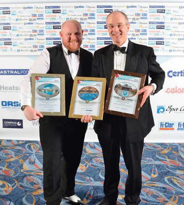 National Leisure's Grayfox Swimming Pools of Lincoln collected Silver, a Bronze and a top Gold accolade in the Commercial Pool of the Year award.