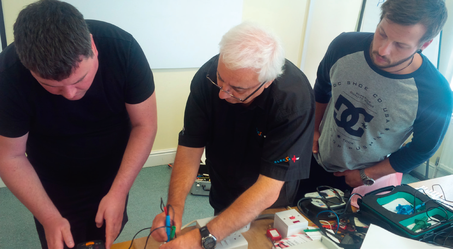 Engineers from Wensum Pools were put through their paces as part of the latest Electrical Awareness Workshop.