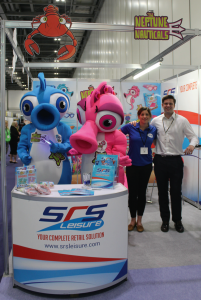 A cluster of water leisure exhibitors at this year's Elevate included swimming merchandise specialists SRS Leisure.