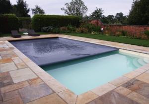 This pool by Northamptonshire-based Mosaic Swimming Pools and Spas features a Coverstar safety cover from Certikin.
