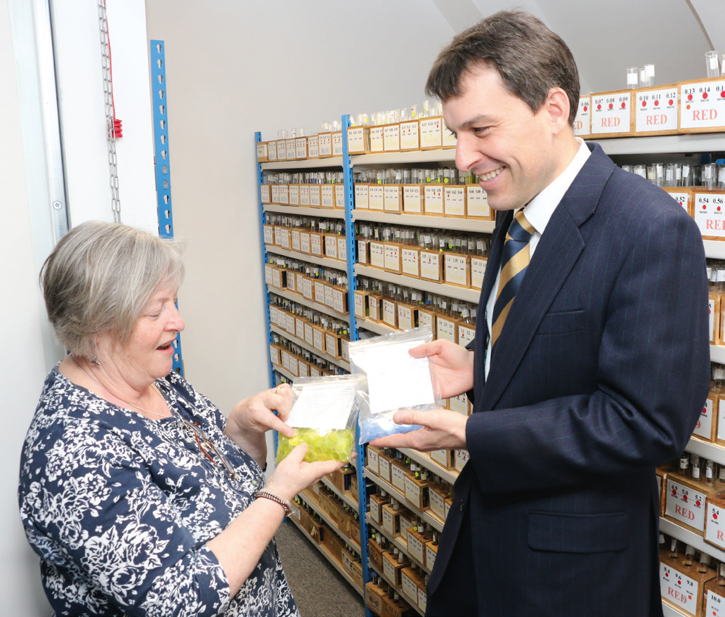 Conservative MP, John Glen took time to meet with staff and learn more about the business and its products.