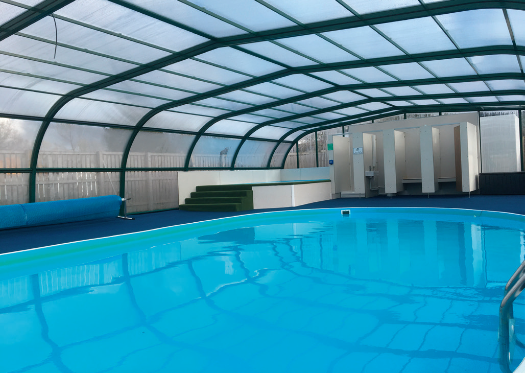 The pool at Campsie Glen Holiday Park has been upgraded for the summer season by Eagle Leisure.