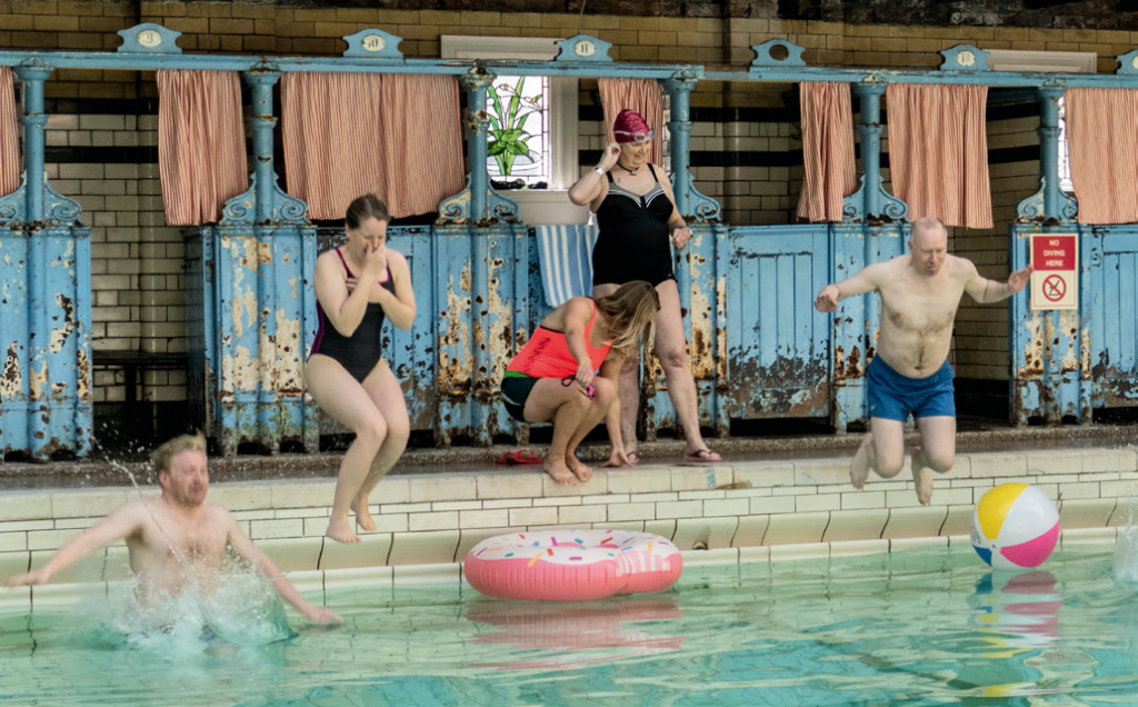 The heritage swim event at Victoria Baths was organised to help raise vital funds for the Baths.